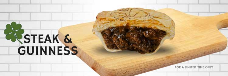 New Steak & Guinness Pie of the Month